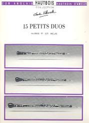 15 petits duos pour hautbois et cor anglais, partition