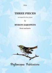 3 Pieces by Haydn and Purcell for 4 oboes, score and parts
