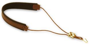 neck strap/sling for cor anglais, adjustable, elastic, elk leather