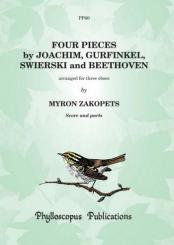 4 Pieces for 3 oboes, score and parts