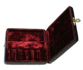 Leather case for six oboe reeds