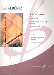 Albéniz, Isaac Manuel: Extraits de la Suite espagnole op.47 pour hautbois (cor anglais) et piano