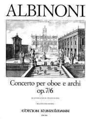 Albinoni, Tomaso: Concerto D-Dur op.7,6 für Oboe und Streicher für Oboe und Klavier