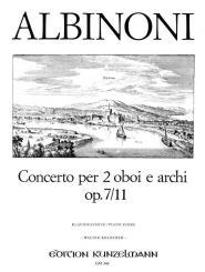 Albinoni, Tomaso: Concerto D-Dur op.7,11 für 2 Oboen und Streicher für 2 Oboen und Klavier