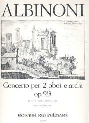 Albinoni, Tomaso: Konzert F-Dur op.9,3 für 2 Oboen und Streichorchester für 2 Oboen und Klavier