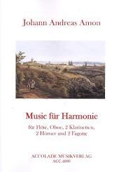 Amon, Johann Andreas: Music für Harmonie für Flöte, Oboe, 2 Klarinetten, 2 Fagotte und 2 Hörner, Partitur und Stimmen