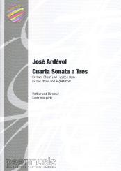 Ardévol,  José: Cuarta sonata a tres for 2 oboes and english horn, score and parts