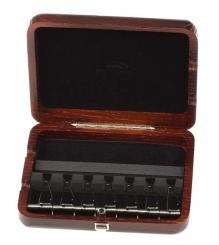 Wood case with springs for 7 cor anglais or oboe d'amore reeds