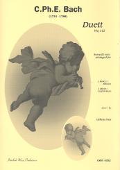 Bach, Carl Philipp Emanuel: Duett WQ142 für Oboe und Englischhorn Partitur und Stimmen