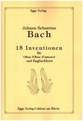Bach, Johann Sebastian: 15 Inventionen für Oboe (Oboe d'amore) und Englischhorn, Spielpartitur und Stimme