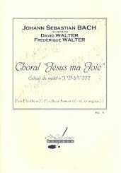 Bach, Johann Sebastian: Choral Jesus ma joie BWV227 pour 2 hautbois, 2 hautbois d'amour et cor anglais, partition et parties