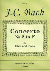 Bach, Johann Sebastian: Concerto F major no.2 for oboe and orchestra, oboe and piano