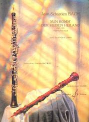 Bach, Johann Sebastian: Nun komm der Heiden Heiland BWV659 pour hautbois et piano