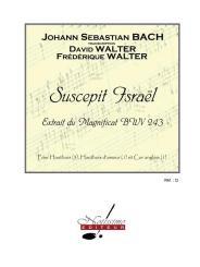 Bach, Johann Sebastian: Suscepit Israel BWV243 pour 3 hautbois, hautbois d'amour et cor anglais, partition et parties