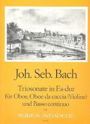 Bach, Johann Sebastian: Triosonate Es-Dur BWV525 für Oboe, Oboe da caccia (Violine) und Bc, Partitur und Stimmen