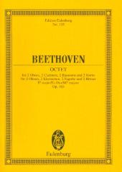 Beethoven, Ludwig van: Oktett Es-Dur op.103 für 2 Oboen, 2 Klarinetten, 2 Hörner und 2 Fagotte, Studienpartitur