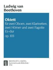 Beethoven, Ludwig van: Oktett Es-Dur op.103 für 2 Oboen, 2 Klarinette, 2 Hörner, und 2 Fagotte,   Stimmen