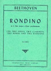 Beethoven, Ludwig van: Rondino in E Flat Major op.posth. for 2 oboes, 2 clarinets, 2 horns and 2 bassoons, study score