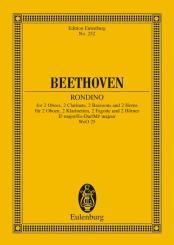 Beethoven, Ludwig van: Rondino Es-Dur für 2 Oboen, 2 Klarinetten, 2 Fagotte und 2 Hörner, Studienpartitur