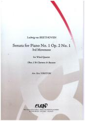 Beethoven, Ludwig van: Sonate No.1 op.2,1 for oboe, 2 clarinets and bassoon, score and parts