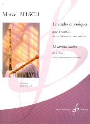 Bitsch, Marcel: 12 Études canoniques pour 2 hautbois, partition