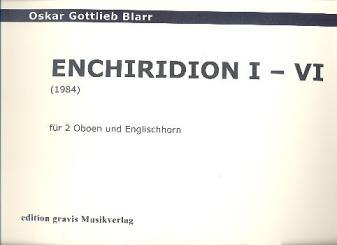 Blarr, Oskar Gottlieb: Enchiridon für 2 Oboen und Englischhorn 3 Spielpartituren