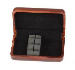 Wood case for 3 cor anglais or oboe d'amore reeds