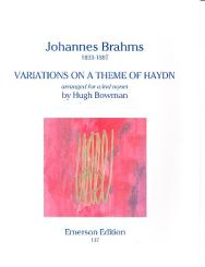 Brahms, Johannes: Variations on a Theme of Haydn for flute, 2 oboes, 2 clarinets, 2 bassoons, and 2 horns,   score and parts