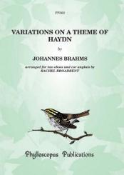 Brahms, Johannes: Variations on a Theme of Haydn for 2 oboes and cor anglais, score and parts