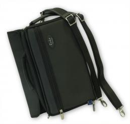 Cor anglais case cover (Deluxe) with outside compartment for sheet music, backpack straps (495x210x90 mm)
