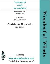 Corelli, Arcangelo: Christmas Concerto op.6 no.8 for 4 oboes and 2 cors anglais, score and parts
