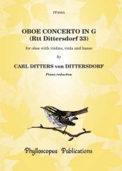 Ditters von Dittersdorf, Karl: Concerto in G Major for Oboe and Strings for oboe and piano