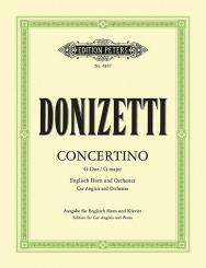 Donizetti, Gaetano: Concertino für Englischhorn und Orchester für Englischhorn und Klavier