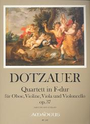 Dotzauer, Justus Johann Friedrich: Quartett F-Dur op.37 für Oboe, Violine, Viola und Violoncello, Partitur und Stimmen