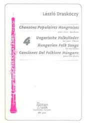 Draskoczy, Lazslo: 4 Hungarian Folk Songs for 2 oboes, score