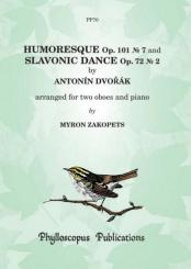 Dvorák, Antonín: 2 Pieces for 2 oboes and piano, parts