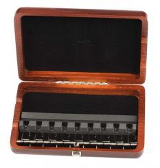 Estuche de madera para 9 cañas de oboe baroco