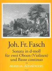 Fasch, Johann Friedrich: Sonate d-Moll für 2 Oboen (Violinen) und Bc, Stimmen