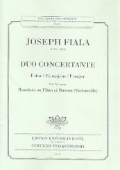 Fiala, Josef: Duo concertante F-Dur für Oboe (Flöte) und Fagott (Violoncello)