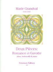 Grandval, Marie Félicie Clémence de Reiset: 2 Pièces for oboe, violoncello and piano, parts