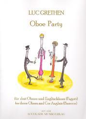 Grethen, Luc: Oboe Party für 3 Oboen und Englischhorn (Fagott), Partitur und Stimmen