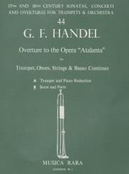 Händel, Georg Friedrich: Ouverture zur Oper Atlanta für Trompete, Oboen, Streicher und Bc., Partitur und Stimmen