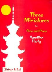 Harty, Hamilton Herbert: 3 Miniatures for oboe and piano