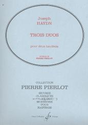 Haydn, Franz Joseph: 3 duos pour 2 hautbois, partition