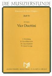 Hudec, Jiri: 4 Duettini für Oboe (Trompete in C) und Posaune (Fagott), Partitur und Stimmen