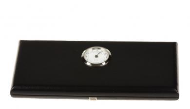 Hygrocase aus Leder ohne Federhaltung für 18 Englischhorn-Rohre - schwarz