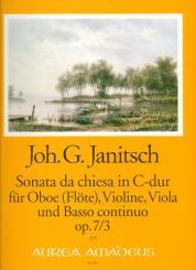 Janitsch, Johann Gottlieb: Sonata da chiesa C-Dur op.7,3 für Oboe (Flöte), Violine, Viola und Bc