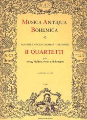 Krommer, Franz Vinzenz: Quartette C-Dur und F-Dur für Oboe und Streichtrio, Partitur und 4 Stimmen