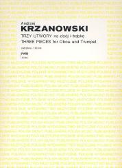 Krzanowska, Grazyna: 3 Pieces for oboe and trumpet, score