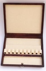 Leather case for nine cor anglais reeds